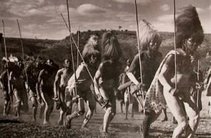Masai warriors celebrate their initiation